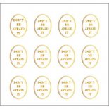 ネイルシール PARTS SHA-NAIL パーツ 写ネイル PA-004g Oval Label B [G] / オーバルラベル B ゴールド