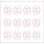 ネイルシール PARTS SHA-NAIL パーツ 写ネイル PA-004p Oval Label B [P] / オーバルラベル B ピンクゴールド