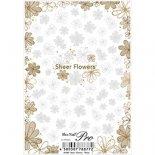 ネイルシール Sha-Nail Pro 写ネイルPro SF-002 Sheer Flowers White / シアーフラワー ホワイト