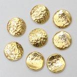 SHAREYDVA シャレドワ メタリックパーツ アンティークプレート 5.5mm 8個 カービングサークル ゴールド