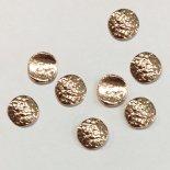 SHAREYDVA シャレドワ メタリックパーツ アンティークプレート 5.5mm 8個 カービングサークル ピンクゴールド