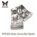 ICE GEL アイスジェル スティッキー オーロラフィルム マーブル MB-09 ホワイト