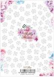 ネイルシール Sha-Nail Pro 写ネイルPro RUMI-002 Softly Flowers -white- / ソフトリィ フラワーズ ホワイト