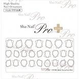 ネイルシール Sha-Nail Pro PLUS 写ネイルPro プラス CUF-PBK Close-up Frame Brack / クローズアップ フレーム ブラック