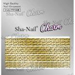 ネイルシール Charm SHA-NAIL チャーム 写ネイル CH-007g Fortune Lines Pale Gold / フォーチュンライン ゴールド