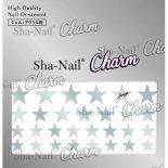ネイルシール Charm SHA-NAIL チャーム 写ネイル CH-008s Brilliant Stars Silver / ブリリアントスター シルバー