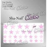ネイルシール Charm SHA-NAIL チャーム 写ネイル CH-008pp Brilliant Stars PalePink / ブリリアントスター ペールピンク