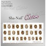 ネイルシール Charm SHA-NAIL チャーム 写ネイル CH-009g Leopard Parts Gold / レオパードパーツ ゴールド
