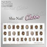ネイルシール Charm SHA-NAIL チャーム 写ネイル CH-009s Leopard Parts Silver / レオパードパーツ シルバー
