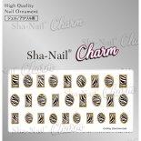 ネイルシール Charm SHA-NAIL チャーム 写ネイル CH-010g Zebra Parts Gold / ゼブラパーツ ゴールド
