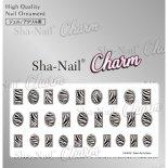 ネイルシール Charm SHA-NAIL チャーム 写ネイル CH-010s Zebra Parts Silver / ゼブラパーツ シルバー