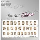 ネイルシール Charm SHA-NAIL チャーム 写ネイル CH-011g Python Parts Gold / パイソンパーツ ゴールド