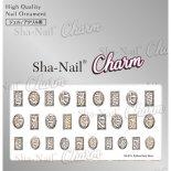ネイルシール Charm SHA-NAIL チャーム 写ネイル CH-011s Python Parts Silver / パイソンパーツ シルバー