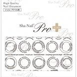 ネイルシール Sha-Nail Pro PLUS 写ネイルPro プラス AYAKO-PBK CIRCLE LIT Black / サークルリット ブラック