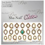 ネイルシール Charm SHA-NAIL チャーム 写ネイル CH-MIKI01 Metal Frame Gold / メタルフレーム ゴールド
