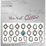 ネイルシール Charm SHA-NAIL チャーム 写ネイル CH-MIKI02 Metal Frame Silver / メタルフレーム シルバー
