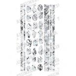 ネイルシール TSUMEKIRA noble ツメキラ ノーブル NO-MAR-101 marble parts white×silver (ジェル専用)
