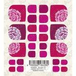 ネイルシール TSUMEKIRA ツメキラ ASHIKIRA アシキラ foot nail AK-KJR-107 cranberry nailプロデュース Gradation flowers