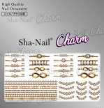 ネイルシール Charm SHA-NAIL チャーム 写ネイル CH-PD01 pd jewelry -gold- / ピーディージュエリー ゴールド