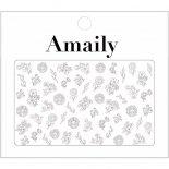 ネイルシール Amaily アメイリー No.3-27 ファンシーフラワー 白