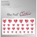 ネイルシール Charm SHA-NAIL チャーム 写ネイル CH-018r Romantic Heart -ShineRed- / ロマンティックハート シャインレッド