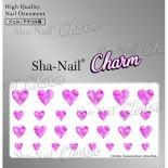 ネイルシール Charm SHA-NAIL チャーム 写ネイル CH-018p Romantic Heart -ShinePink- / ロマンティックハート シャインピンク