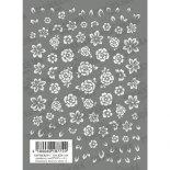 ネイルシール TSUMEKIRA ツメキラ NN-KJR-109 cranberry nail プロデュース1 Gradation flowers white 2