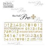 ネイルシール Sha-Nail Pro PLUS 写ネイルPro プラス AYAKO-PNF01 number face MIX -Gold- /ナンバーフェイスミックス ゴールド