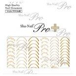 ネイルシール Sha-Nail Pro PLUS 写ネイルPro プラス RUMI-PSF01 smile font -Gold- / スマイルフォント -ゴールド-
