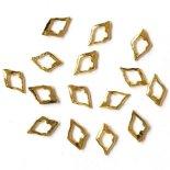 +D D.nail フラットパーツ 中抜き スクエアフレーム 6mm×13mm 20個 ゴールド