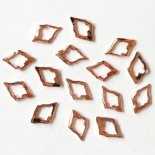 +D D.nail フラットパーツ 中抜き スクエアフレーム 6mm×13mm 20個 ピンクゴールド