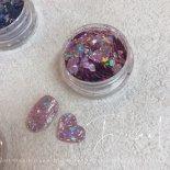 +D D.nail グリッターホロ 1g flake purple
