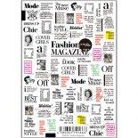 ネイルシール Sha-Nail Pro 写ネイルPro FAM-001 Fashion Magazine -Black- / ファッションマガジン ブラック