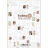 ネイルシール Sha-Nail Pro 写ネイルPro FAM-002 Fashion Magazine -White- / ファッションマガジン ホワイト