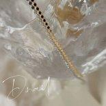 +D D.nail スパンコールチェーン 1mm×25cm シルバー