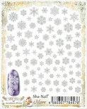 ネイルシール Sha-Nail More 写ネイルモア MSF-001 Snowflakes White