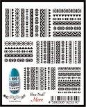 ネイルシール Sha-Nail More 写ネイルモア MTB-001 Tribal トライバル ブラック