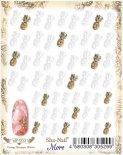 ネイルシール Sha-Nail More 写ネイルモア MP-003 Vintage Pineapple ヴィンテージパイナップル ホワイト