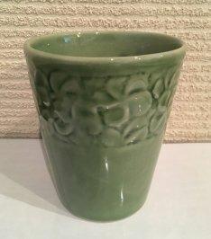 TW-06-G セラミックグラス  カップ プルメリア グリーン