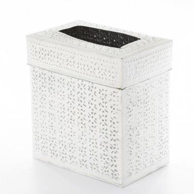 AL-14 アルミごみ箱蓋付き四角L【ホワイト】