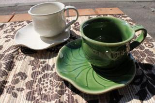 セラミック カップ&ソーサ ロータス ホワイト
