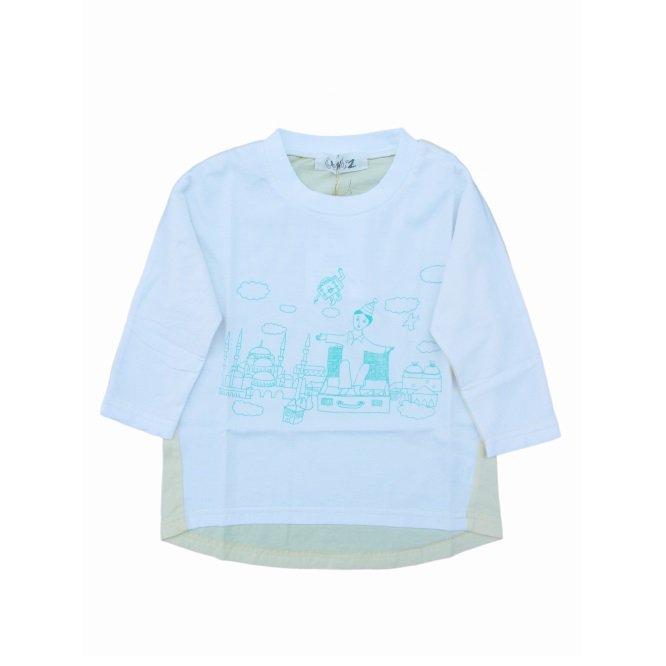【Geewhiz】 空飛ぶトランク/ロングTシャツ (ホワイト)