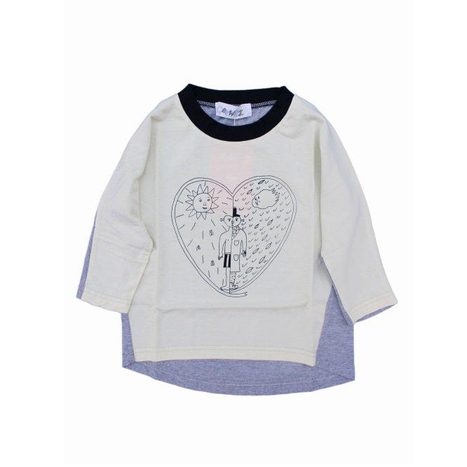【Geewhiz】 北風と太陽/ロングTシャツ (イエロー)