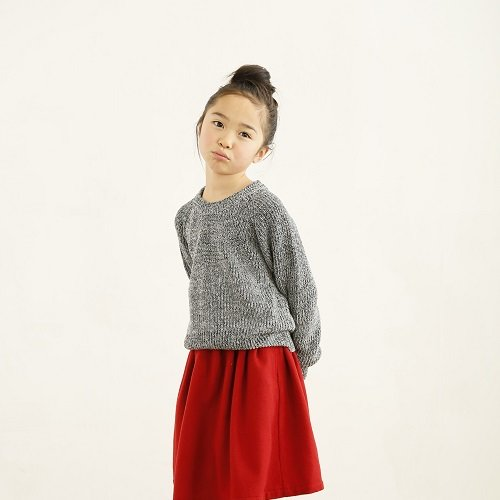 【ARCH&LINE】 7G COTTON KNIT PO (グレー)
