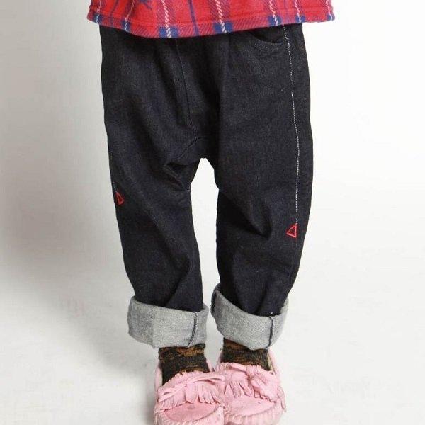 【MLP】pleated パンツ|ネイビー|90-150cm