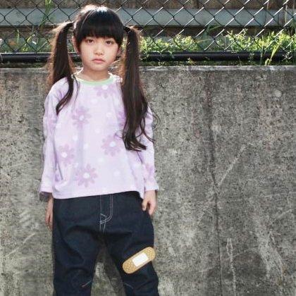 【MLP】 banzai ロングTシャツ (ムラサキ) 90-150cm