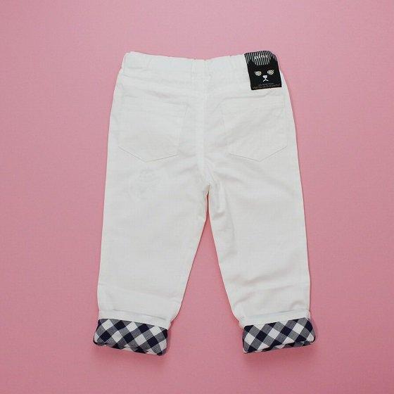 【nino】 ストレッチカラースリムパンツ (ホワイト) 80-120cm