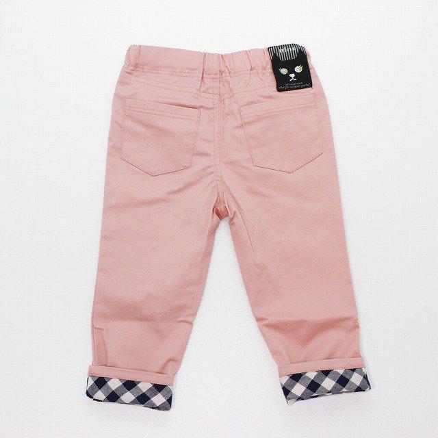【nino】 ストレッチカラースリムパンツ (ピンク) 80-120cm