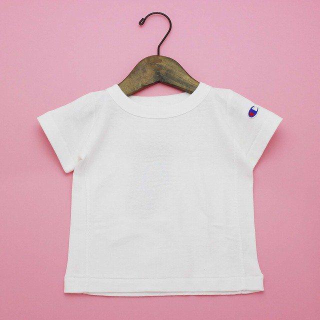 【Champion】 リバースウィーブワンポイントTシャツ|ホワイト