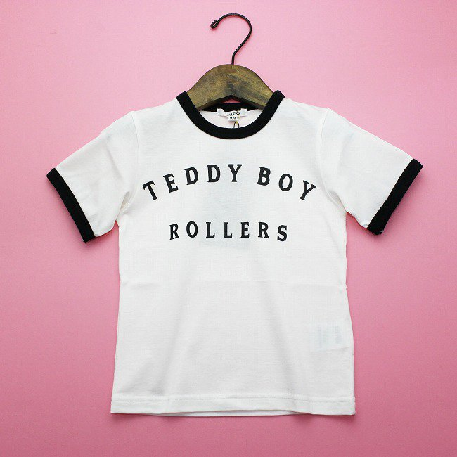 <img class='new_mark_img1' src='https://img.shop-pro.jp/img/new/icons20.gif' style='border:none;display:inline;margin:0px;padding:0px;width:auto;' />【rollers】TEDDYBOY RINGER TEEシャツ|ブラック